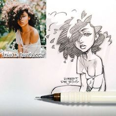 Robert DeJesus transforme les photos dinconnus en cartoon  Dessein de dessin
