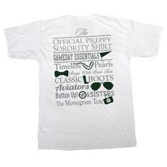 Alpha Omicron Pi Preppy Game Day Shirt by GreekGraffitiDorm on Etsy