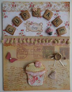 altered cupcake wall art