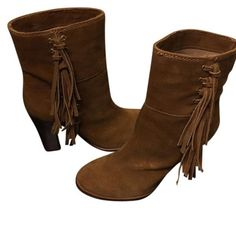 Coach boots Suede boots Coach Shoes Ankle Boots & Booties