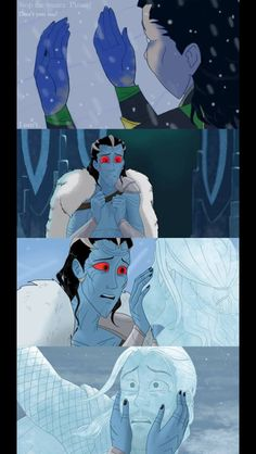 Frozen themed Thor and Loki