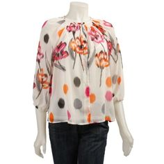 Floral Blouse Lightweight Flow Floral Blouse Lightweight Flow Top 100 % Polyester no ️️ no Trades Ninety Tops Blouses