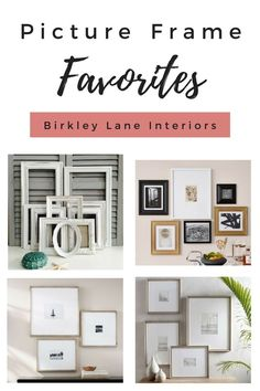 I've gathered the BEST picture frames to decorate your home with! Whether you're creating a gallery wall or looking for smaller accent pieces, you'll find the perfect picture frames right here! Decorating Tips, Decorating Your Home, Wall Art Decor, Room Decor, Diy Home Decor On A Budget, Contemporary Decor, Interior Design Inspiration, Farmhouse Decor, Farmhouse Style