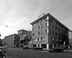 Ludovico Magistretti: Edificio per uffici e abitazioni (1972 ca.), piazza S. Marco 2, via Fatebenefratelli, via Solferino, via Ancona 2.