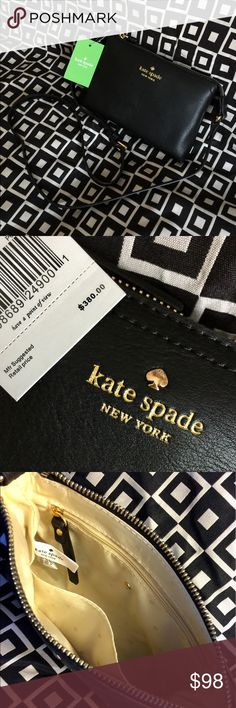 "💥✨KATE SPADE!!!✨💥 KATE SPADE!!!  BRAND NEW W/TAGS!!!  COLOR - BLACK!!!  SIZE - 8.25"" L x 5.5"" H!!!  SOFT SUPPLE LEATHER!!!  GREAT GIFT IDEA!!!  CHECK MY LISTINGS FOR OTHER GREAT ITEMS!!!            Ignore: canvas purse purses handbags hand bag change bags handbag tote totes Kate spade new york clutch crosssbody cross body satchel kate spade Bags"