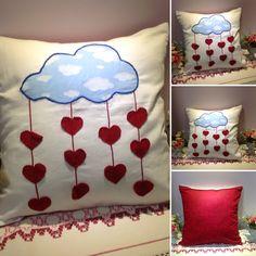 Nuvem - Coração - Almofadas Patchwork - O amor está no ar! Acesse: www.almofadaspatchwork.com.br