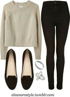 Casual taupe and black outfit Casual Work Outfits, Cute Outfits, Teen Outfits, Classy Outfits, Work Fashion, Fashion Outfits, Womens Fashion, Fashion Trends, Latest Fashion