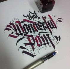 Lettering & Calligraphy Designs by Daniel Letterman