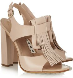 Tod's Fringed Leather Sandals