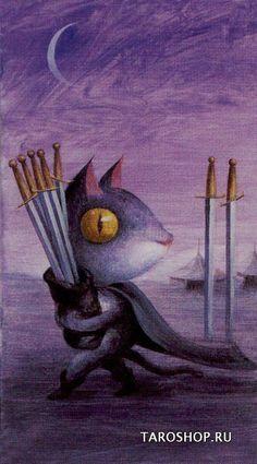 Tarot de la Forêt Magique - Sept d'Epées