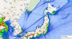 Sea of Japan Marine Traffic, Sea Of Japan, Oceans, Maps, Blue Prints, Map, Cards