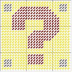 Question Mark Block Pattern by SilverAnaya on DeviantArt Plastic Canvas Coasters, Plastic Canvas Tissue Boxes, Plastic Canvas Crafts, Plastic Canvas Patterns, Tissue Box Holder, Tissue Box Covers, Craft Show Ideas, Canvas Designs, Question Mark