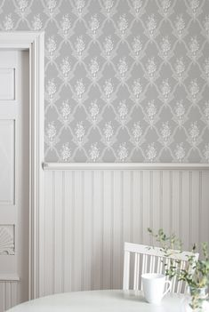 The wallpaper Magasinet - belongs to the popular wallpaper collection Gamm Wall Painting Decor, Swedish Interiors, New Wallpaper, Modern Country, My Dream Home, Home And Living, Ikea, New Homes, Sweet Home