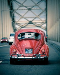 #vw #beetle #car #vintage #red #classic