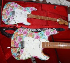 Guitar Painting Ideas | Guitar Paint Designs Flower power patterns and