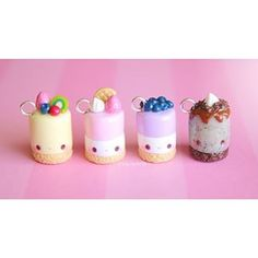 Kawaii cheesecakes by creative rachy (rachyh96) these have to be my favorite design she's ever done!!!! amazing!