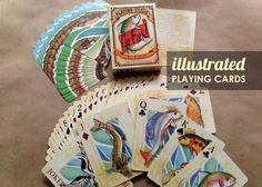 Vis kaarten vliegvissen pokeren dek geïllustreerde forel