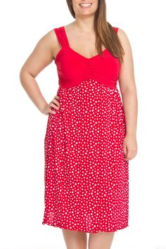 S.H.E. Mildred Dress in Red & White - Beyond the Rack