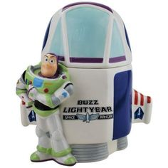 Toy Story Buzz Lightyear Space Ship Cookie Jar made by Westland Giftware