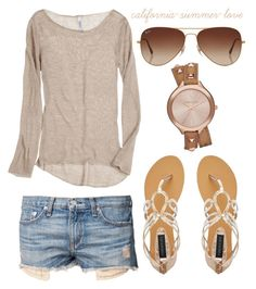 """Summer Breeze Outfit"" by california-summer-love ❤ liked on Polyvore featuring rag & bone, Michael Kors, Forever New and Rayban"