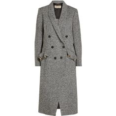 Burberry Wool Tweed Coat ($1,695) ❤ liked on Polyvore featuring outerwear, coats, jackets, multicolored, multi colored coat, burberry, double-breasted wool coats, ruffle coat and tweed wool coat