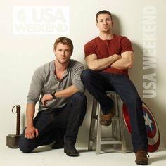 Chris Evans & Chris Hemsworth