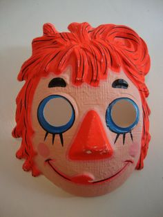 VTG Raggedy Ann Halloween Mask with Original Tag. $12.00, via Etsy.