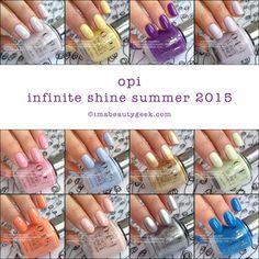 OPI Infinite Shine Swatches Summer 2015
