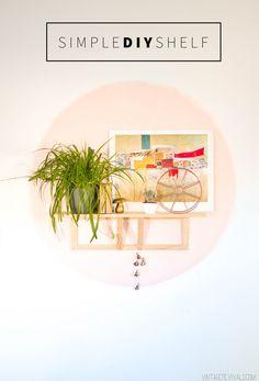 $15 Simple DIY Shelf (seriously cute!)