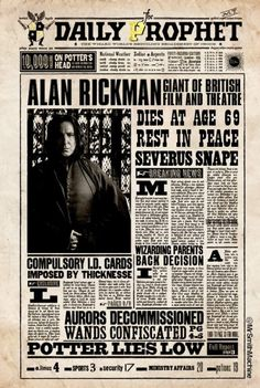 "Always J.K. Rowling on Twitter: ""A #HarryPotter goodbye to Alan Rickman! #RIPAlanRickman #Always https://t.co/vObLMn2dgN"""