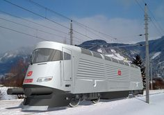 ŠKODA 109 E electric locomotive design by F. Station To Station, Train Station, Locs, Train Truck, Rail Transport, Old Trains, Engin, Train Pictures, Rolling Stock