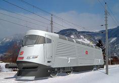 Trens e Locomotivas by Daniel Alho / ŠKODA 109 E - Design by F.A. Porsche.