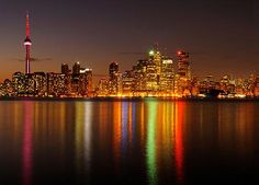 Toronto Smile Face, City Lights, City Life, Cn Tower, Seattle Skyline, Ontario, Attraction, Toronto, Canada