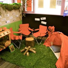 Role play area - Camping site Thoughts for Allaso Ranch Camping Dramatic Play, Dramatic Play Area, Dramatic Play Centers, Play Corner, Corner House, Classroom Setting, Classroom Themes, Camping Theme, Camping Site