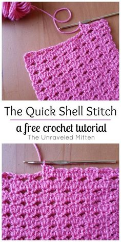 Quick Shell Stitch: A crochet tutorial, crochet tutorial . - The Quick Shell Stitch: A crochet tutorial, HäkelTutorial -The Quick Shell Stitch: A crochet tutorial, crochet tutorial . - The Quick Shell Stitch: A crochet tutorial, HäkelTutori. Crochet Stitches For Blankets, Crochet Stitches For Beginners, Crochet Stitches Patterns, Knitting Patterns, Crochet Afghans, Crocheting For Beginners Tutorial, Crochet Projects For Beginners, Knitting Projects, Beginner Knitting