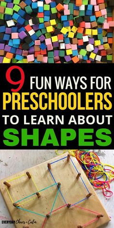 Shape Activities: The best way to learn about shapes is through play. Here are 9 simple and engaging shape activities for preschoolers to help them learn all their shapes! Learning Shapes for Toddlers Educational Activities For Preschoolers, Preschool Science Activities, Preschool Lesson Plans, Games For Preschoolers, Educational Crafts, Learning Shapes, Fun Learning, Stress, Lectures
