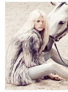 Pretty hair and pretty horse