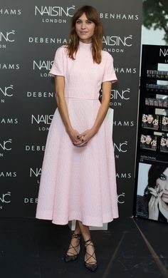 Pin for Later: There Is Something Special About This Week's Best Dressed Stars Alexa Chung Alexa Chung's Emilia Wickstead dress was sweet on its own, but paired with strappy Bionda Castana heels, it was an absolute winner.
