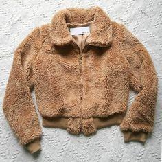 985eeb42d2fe Buy a soft cropped teddy fleece jacket coats for women faux fur coat pink  fuzzy coats fur collars.