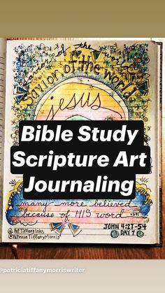 Bible Study Scripture Art Journaling pages from the book of John. Precepts Bible study inspired art pages and journaling notes from the gospel of John. Scripture Lettering, Bible Art, Scripture Verses, Sermon Notes, Bible Notes, John Gospel, Bible Verse Painting, Bible Study Journal, Doodle Drawings