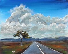 On The Road Again is the title of Wed YouTube live lesson on painting clouds which included one point perspective tips. Very fun. It will be in our lesson library April 8