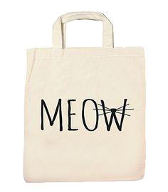 Jutebeutel Baumwolltasche Spruch bedruckt Flexfolie Meow Katze Schnurrbart