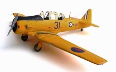 Kitty Hawk's 1/32 scale North American T6 Texan converted to a Harvard with World War Two Canadian Markings.