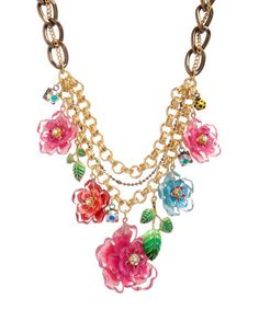 FLOWER LEAVES NECKLACE