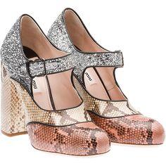 Miu Miu Pump (16 840 ZAR) ❤ liked on Polyvore featuring shoes, pumps, heels, miu miu, camelia pink, high heel pumps, mary jane shoes, leather mary jane pumps, pink pumps and pink leather pumps