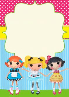 Lalaloopsy Party Invitation, FREE template. Just fill in with your info. :) Kitty's Creations.