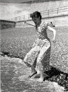 Audrey at the beach.