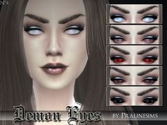Demon Eyes by Pralinesims at TSR