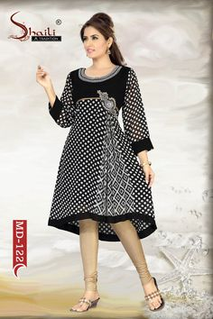 Polka Prettiness Ethnic Fancy Ladies Kurti by Snehal Creation