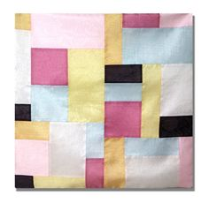 Korean traditional silk patchwork jogakbo pojagi cushion pillow cover made by hand sewing Korean Traditional, Cushions, Pillows, Pure Silk, Fabric Patterns, Hand Sewing, Pillow Covers, Interior Decorating, Cushion Pillow